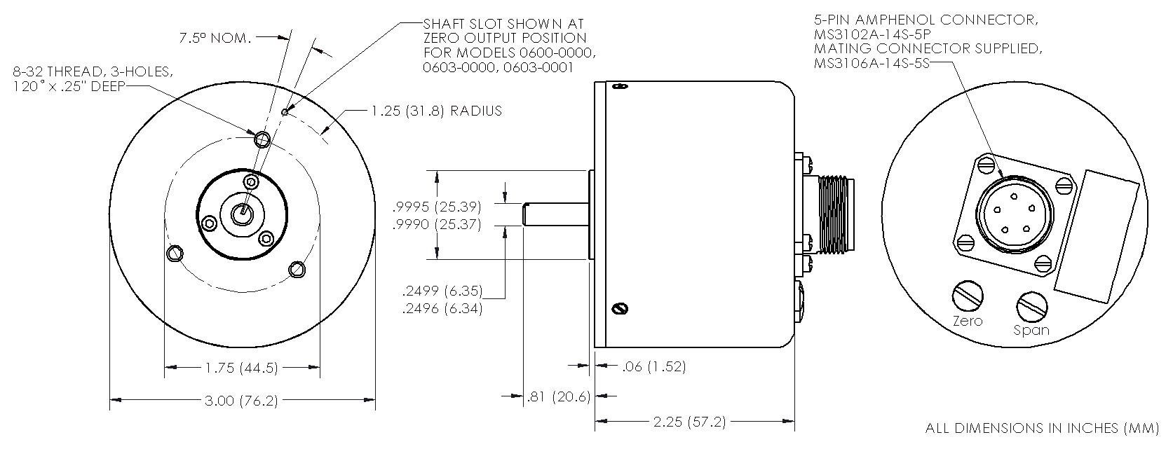 the trans tek, inc series 600 angular displacement transducers LVDT Schematic